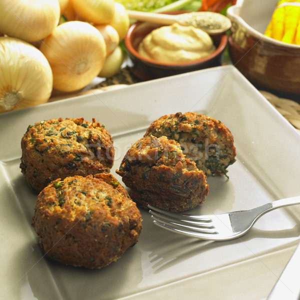 rissole with mangold Stock photo © phbcz