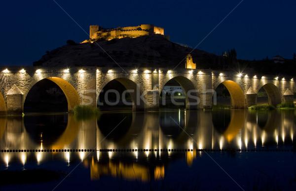 Medellin at night, Badajoz Province, Extremadura, Spain Stock photo © phbcz