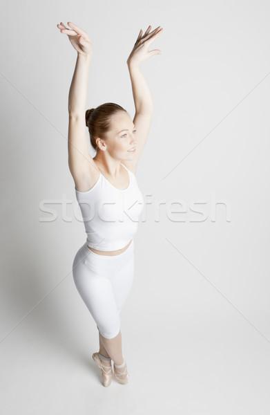 バレエダンサー 女性 ダンス バレエ 訓練 白 ストックフォト © phbcz