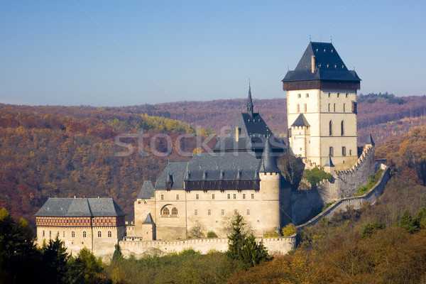 Karlstejn Castle, Czech Republic Stock photo © phbcz