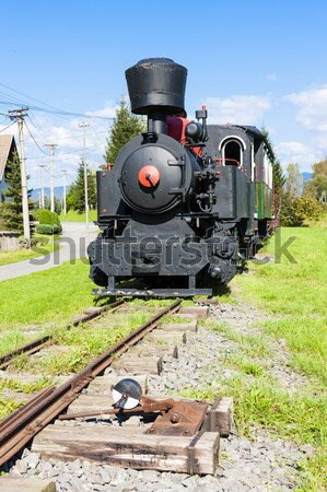 steam locomotive in depot, Czech Republic Stock photo © phbcz