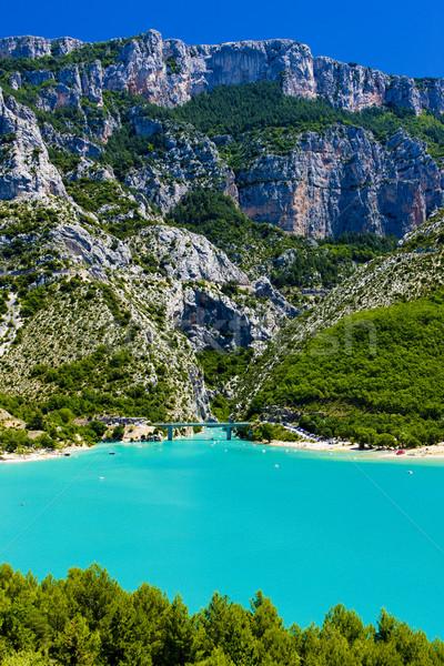 St Croix Lake, Les Gorges du Verdon, Provence, France Stock photo © phbcz