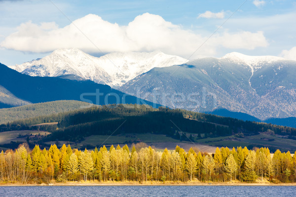 Liptovska Mara with Western Tatras at background, Slovakia Stock photo © phbcz