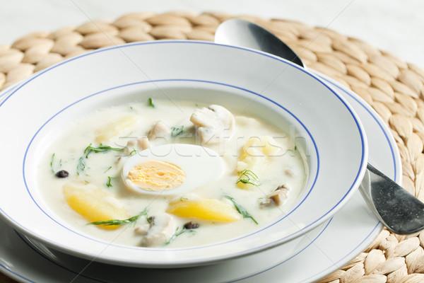 dill soup Stock photo © phbcz