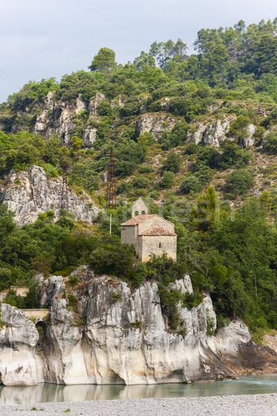 church near Pont Mirabeau, Provence, France Stock photo © phbcz