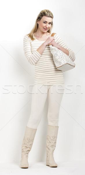 Pie mujer verano botas bolso Foto stock © phbcz