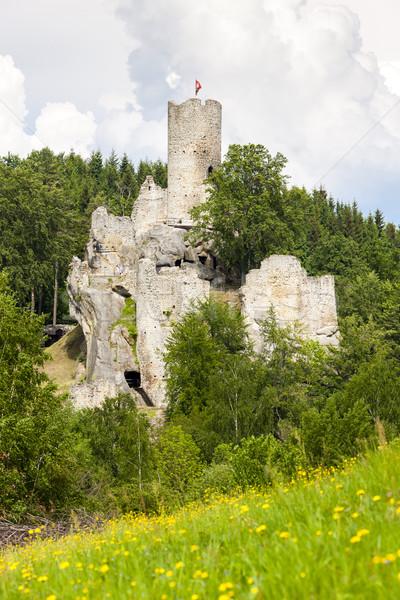 Romok kastély Csehország épület utazás építészet Stock fotó © phbcz
