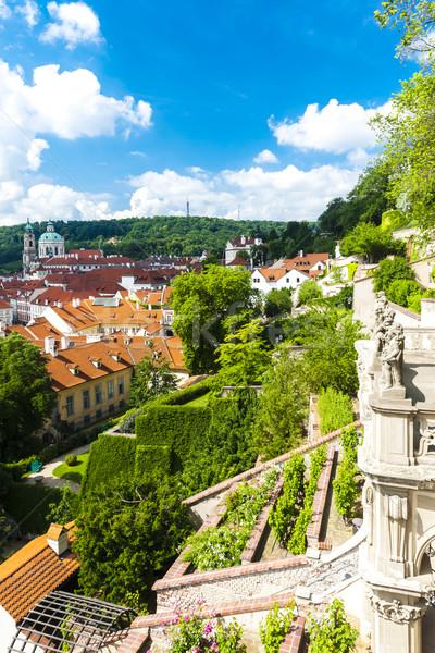 Ledeburska Garden and Saint Nicholas Church, Prague, Czech Repub Stock photo © phbcz