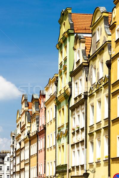 Vierkante Polen huis stad architectuur stad Stockfoto © phbcz