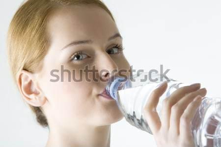 портрет женщину бутылку воды молодые только Сток-фото © phbcz