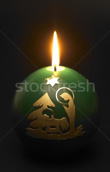 Christmas candle Stock photo © phbcz