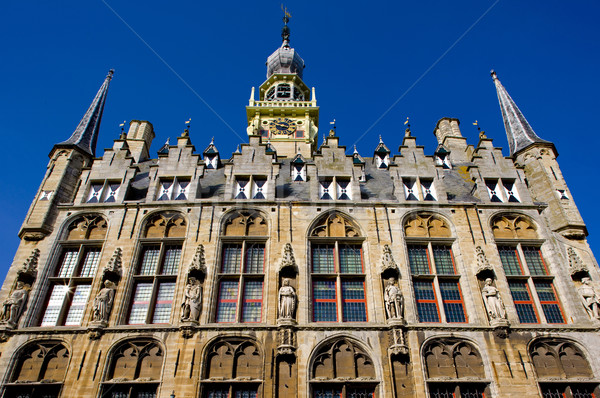 town hall, Veere, Zeeland, Netherlands Stock photo © phbcz