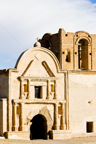 Arizona USA kerk architectuur missie buitenshuis Stockfoto © phbcz