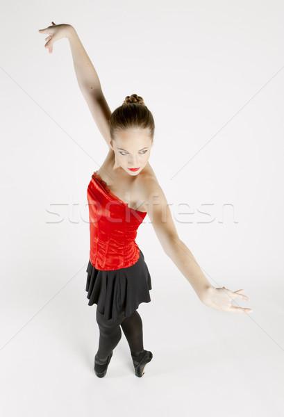 バレエダンサー 女性 ダンス 赤 バレエ 小さな ストックフォト © phbcz