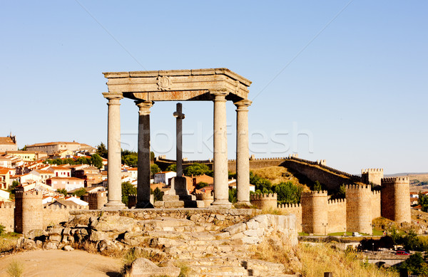 Los cuatro postes (the four poles), Avila, Castile and Leon, Spa Stock photo © phbcz