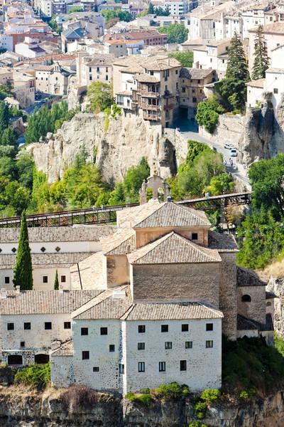 hanging houses, Cuenca, Castile-La Mancha, Spain Stock photo © phbcz