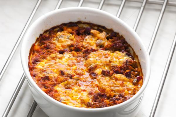 Mexican mélange mozzarella viande repas Photo stock © phbcz