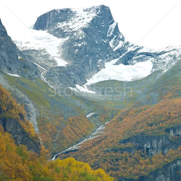 Paisagem geleira parque Noruega natureza neve Foto stock © phbcz