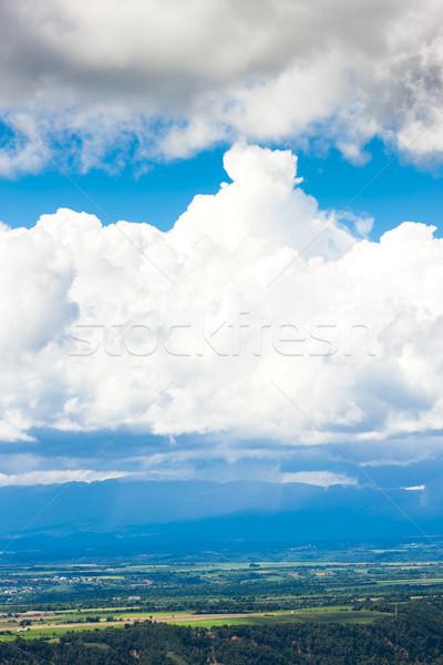 clouds over landscape of Alpes de Haute Provence, France Stock photo © phbcz
