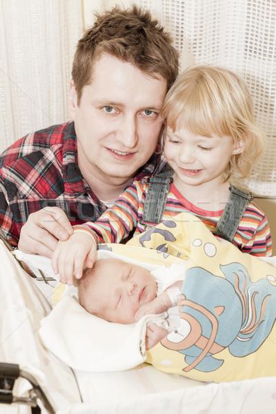 Portret vader moederlijk ziekenhuis familie baby Stockfoto © phbcz