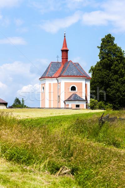 église saint République tchèque Voyage architecture à l'extérieur Photo stock © phbcz