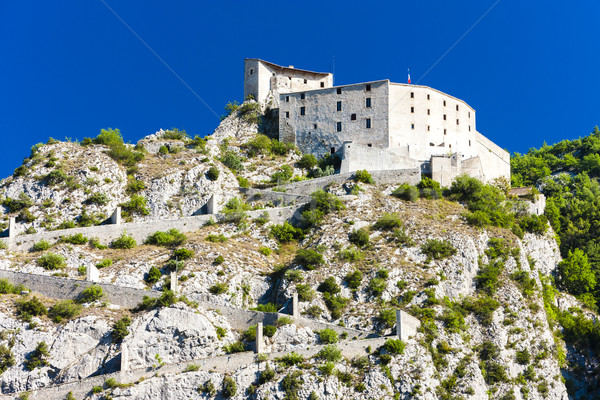 fortress in Entrevaux, Provence, France Stock photo © phbcz