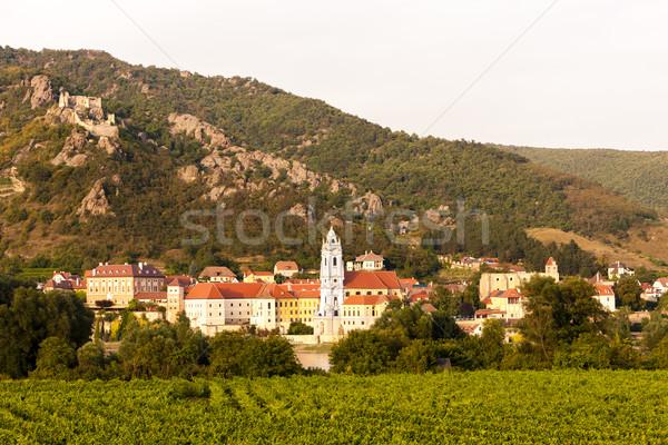 Vignoble région baisser Autriche maison bâtiment Photo stock © phbcz