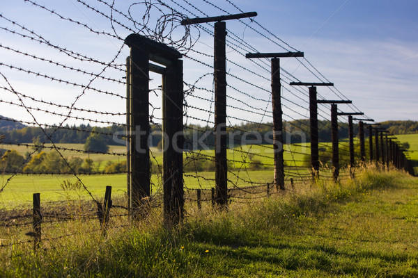remains of iron curtain, Cizov, Czech Republic Stock photo © phbcz