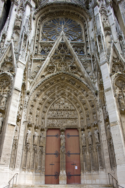 detail of Cathedral Notre Dame, Rouen, Normandy, France Stock photo © phbcz