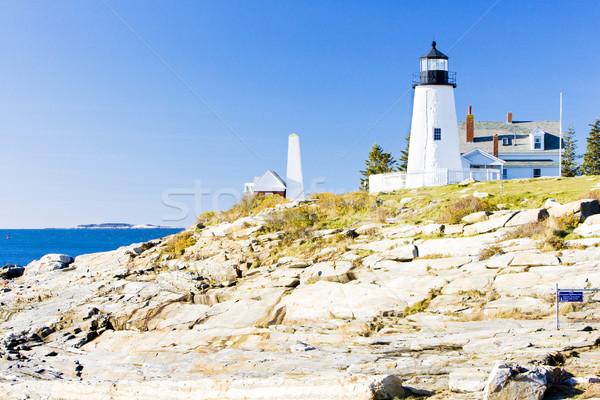 Latarni punkt świetle Maine USA budynku Zdjęcia stock © phbcz