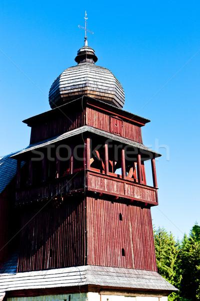 wooden church of Holy Cross, Lazisko, Slovakia Stock photo © phbcz