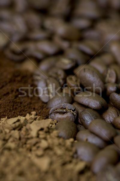 Koffie voedsel interieur dranken achtergronden grond Stockfoto © phbcz