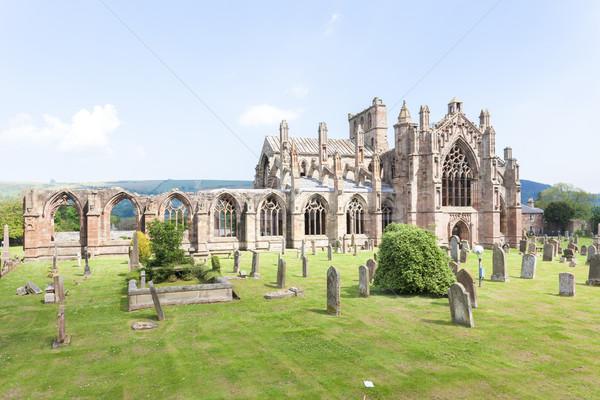 руин аббатство Шотландии здании архитектура Сток-фото © phbcz