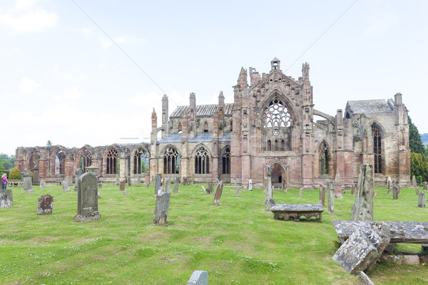 ruins of Melrose Abbey, Scottish Borders, Scotland Stock photo © phbcz