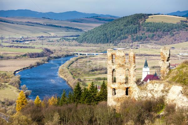 ruins of Plavec Castle, Slovakia Stock photo © phbcz
