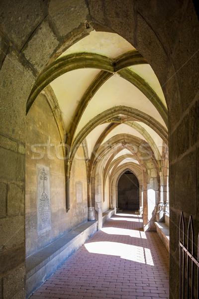 cloister of monastery, Hronsky Benadik, Slovakia Stock photo © phbcz