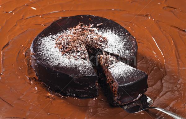 still life of chocolate with chocolate cake Stock photo © phbcz