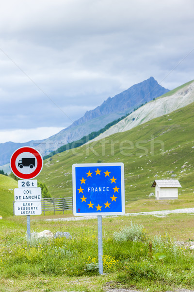 Col de Larche, Mercantour National Park, France Stock photo © phbcz