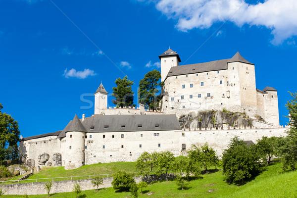 Burg senken Österreich Reise Architektur Stock foto © phbcz