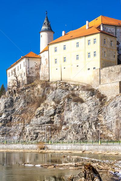 Kasteel Tsjechische Republiek rivier architectuur geschiedenis buitenshuis Stockfoto © phbcz