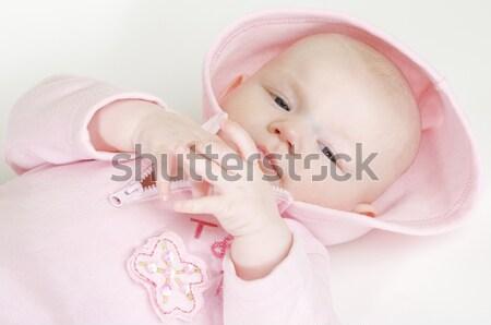 Stock fotó: Portré · meztelen · baba · szív · szeretet · gyerekek