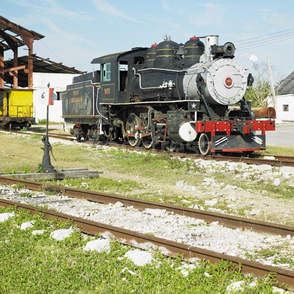 Chemin de fer musée villa Cuba Voyage machine Photo stock © phbcz