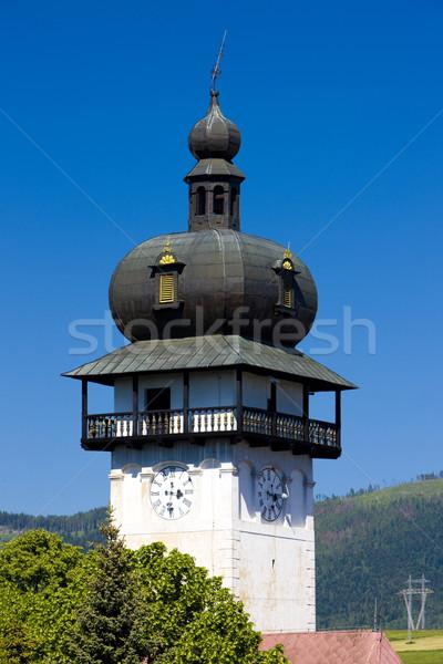 Pormenor igreja Eslováquia edifício arquitetura história Foto stock © phbcz