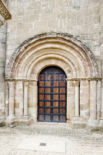 Stock fotó: Templom · szent · út · Santiago · építészet · történelem