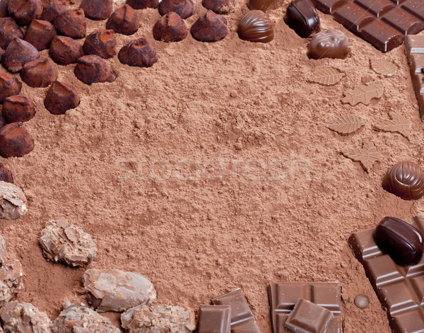 still life of chocolate in cocoa Stock photo © phbcz