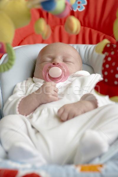 Stock fotó: Egy · hónap · öreg · baba · gyerekek · gyermek