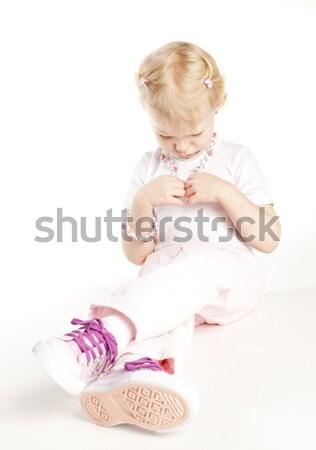 şedinţei fetita colier fată copil Imagine de stoc © phbcz