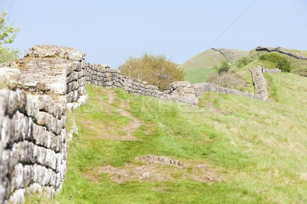 Muro Inghilterra viaggio architettura Europa rovine Foto d'archivio © phbcz