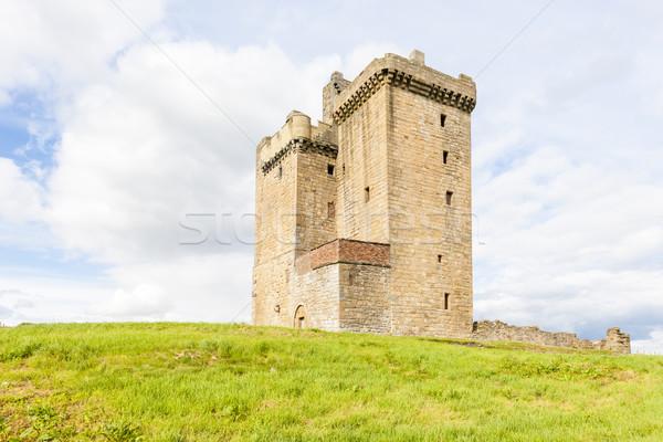 Kule İskoçya kale mimari Avrupa tarih Stok fotoğraf © phbcz