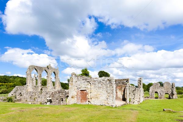 Ruinas abadía Inglaterra edificio arquitectura gótico Foto stock © phbcz